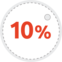 Discount of 10% on all orders made 60 days  prior to rental.